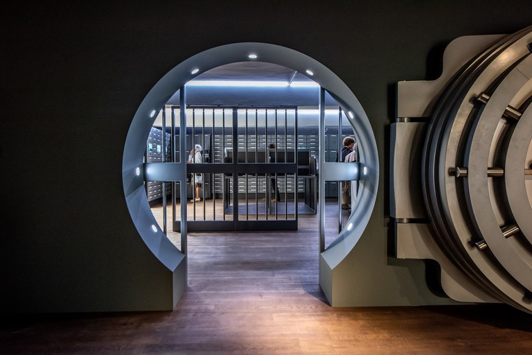 This life-size vault is one of the six themed rooms in DIVA