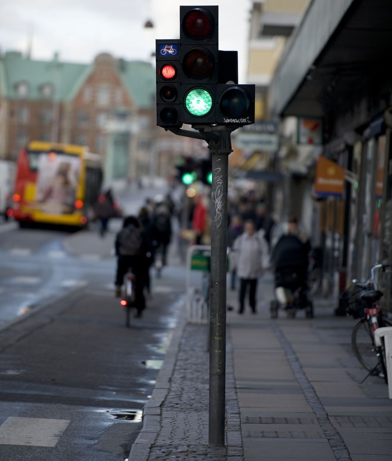 bicycle traffic light Denmark