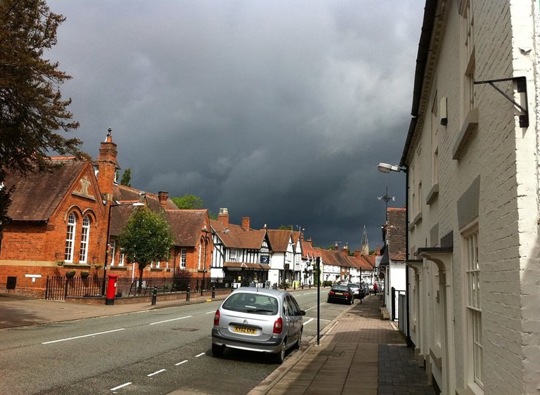 Dramatic skies over Henley-in-Arden