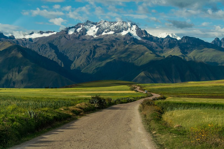 Snow-capped mountain backdrops await on the Lares trail to Machu Picchu