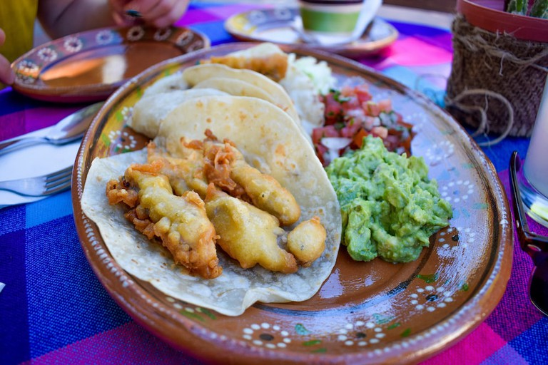 Claudia's tasty yellowfin fish tacos are a must try in Loreto