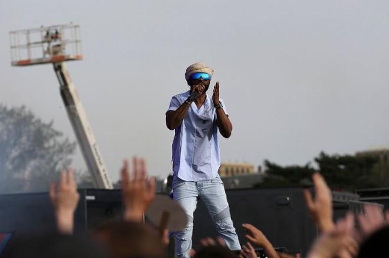 Lingala maestro Fally Ipupa on stage