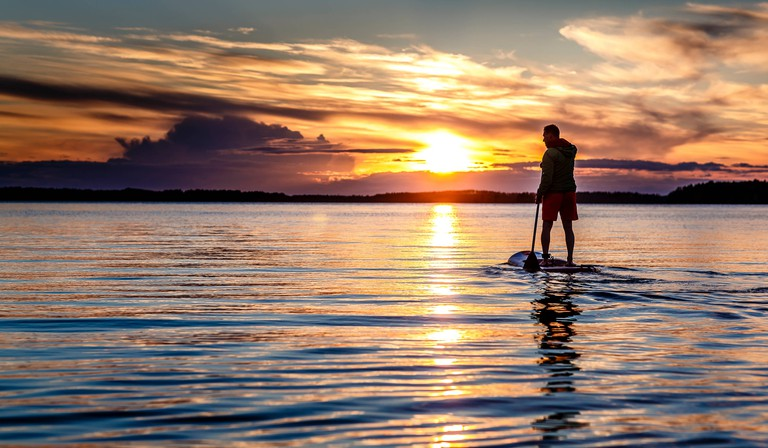 Water sports in Finland.
