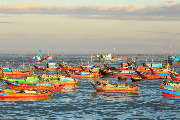 Vietnam fishing boats on show