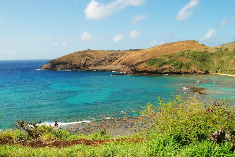 Hanauma Bay's reef makes it a popular snorkeling destination.
