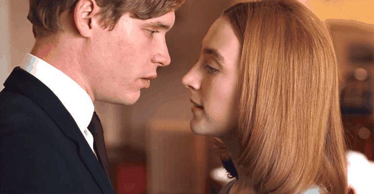 """Falling apart together: Edward (Billy Howle) and Florence (Saoirse Ronan) in """"On Chesil Beach"""""""
