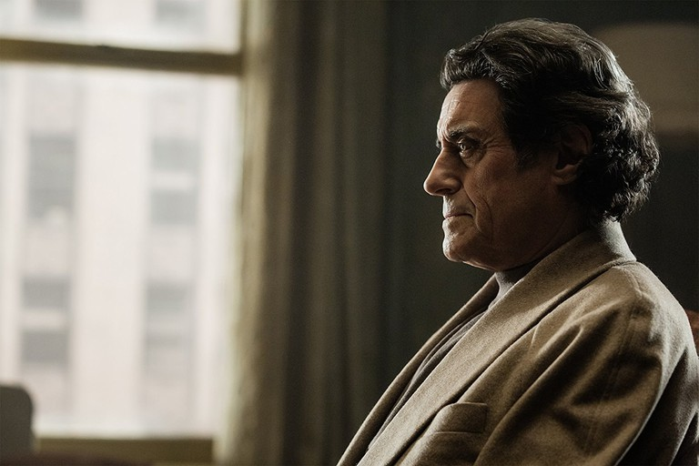 Ian McShane as Mr. Wednesday (Odin) in American Gods (2017) Photo by Jan Thijs:© 2017 Starz Entertainment, LLC - © 2017 FremantleMedia North America