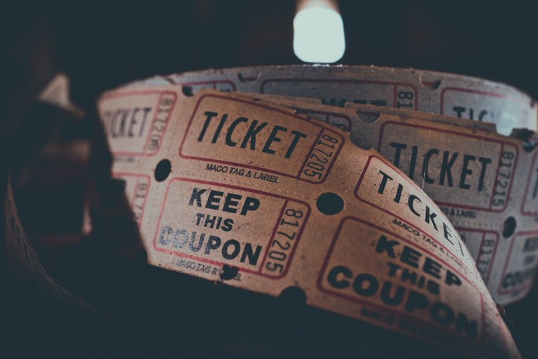 Roll of theatre tickets
