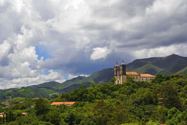 Church in Ouro Preto Brazil