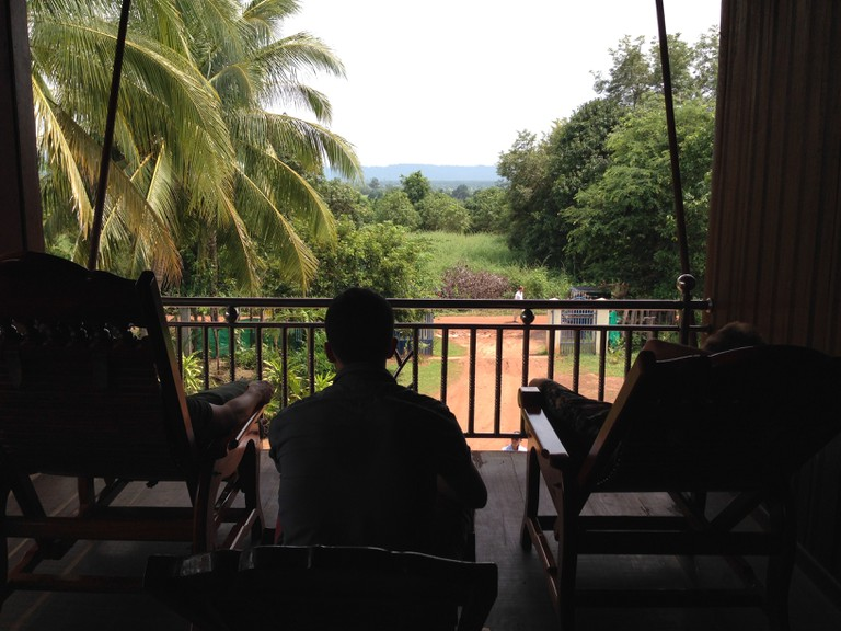 Stay at one of the many homestays that dot Banteay Srei district.