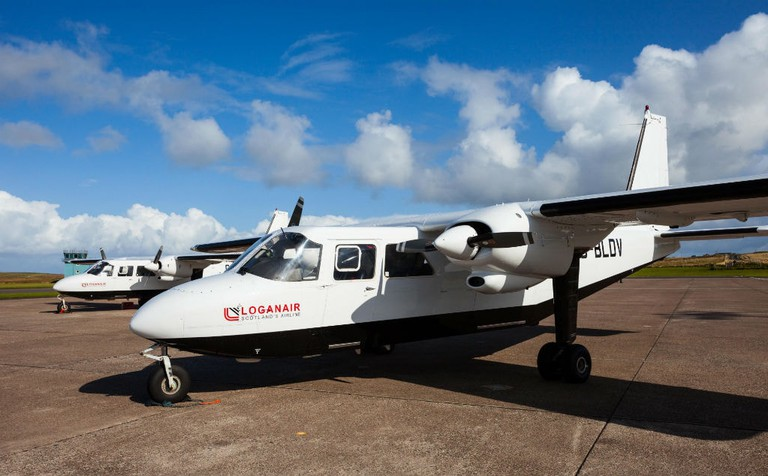 Loganair Britten-Norman Islander Planes Used For Orkney Inter-Island Service