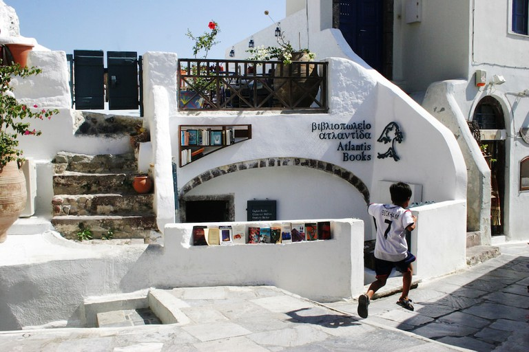 Atlantis bookshop in Santorini