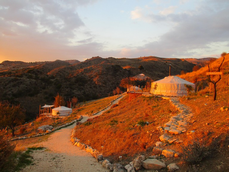 Yurts in Cyprus provide eco-friendly products and compost bathrooms keeping a sustainable mindset