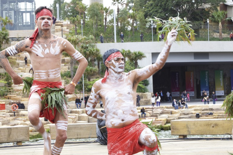 Indigenous ceremony in Barangaroo, Sydney © Courtesy of Blak Markets