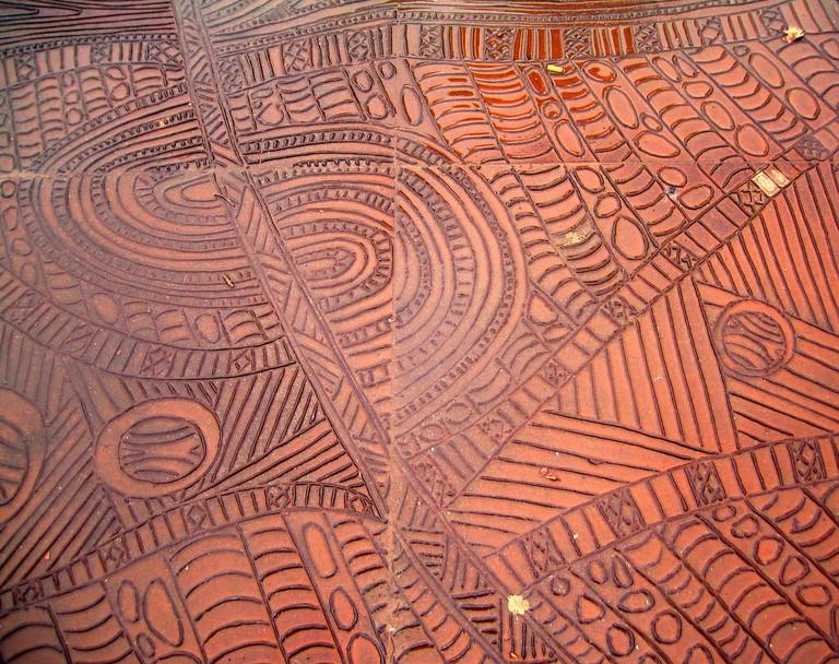 Indigenous pavement at Birrarung Marr © Ruth Hartnup / Flickr