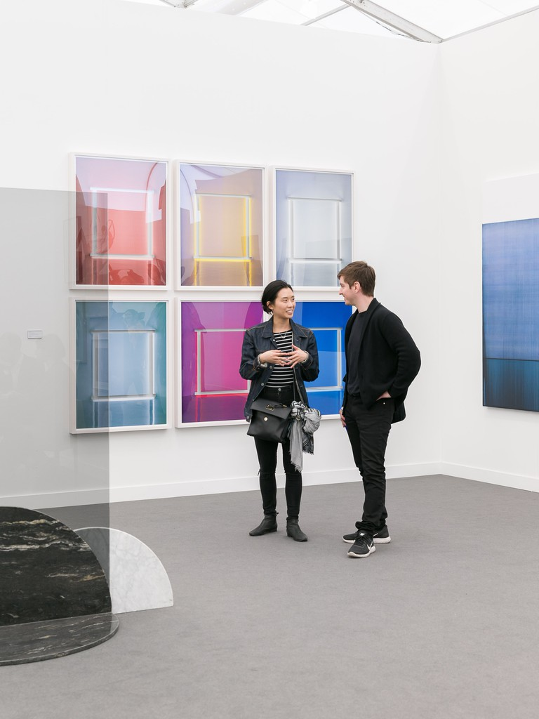 Installation view of Jose Dávila at Sean Kelly, Frieze 2018