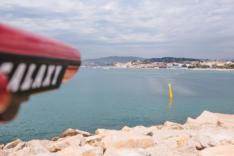 The view of Cannes from Port Pierre Canto near Palm Beach, Cannes, France