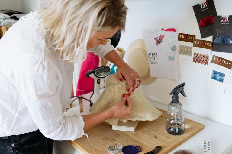 British milliner Amy Kindred