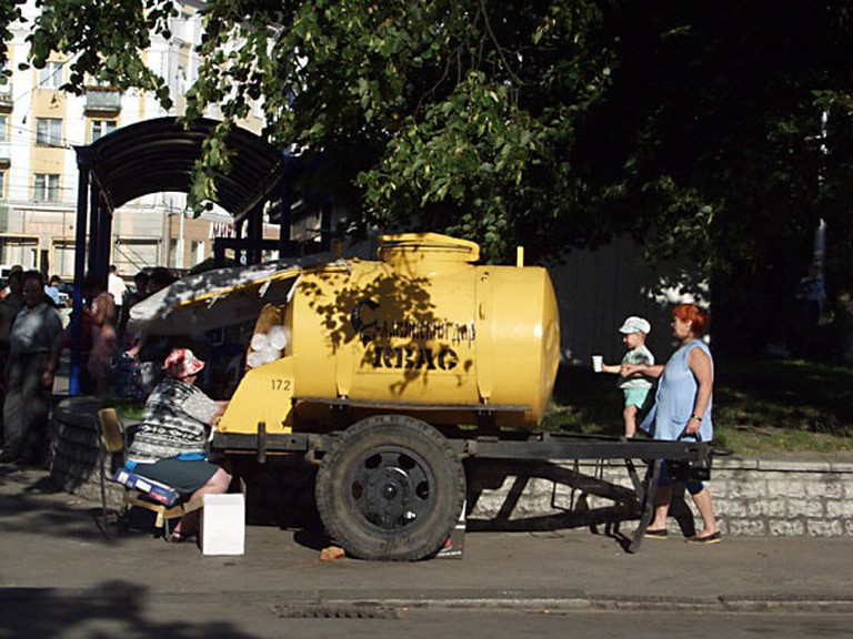Kvass sold in the streets