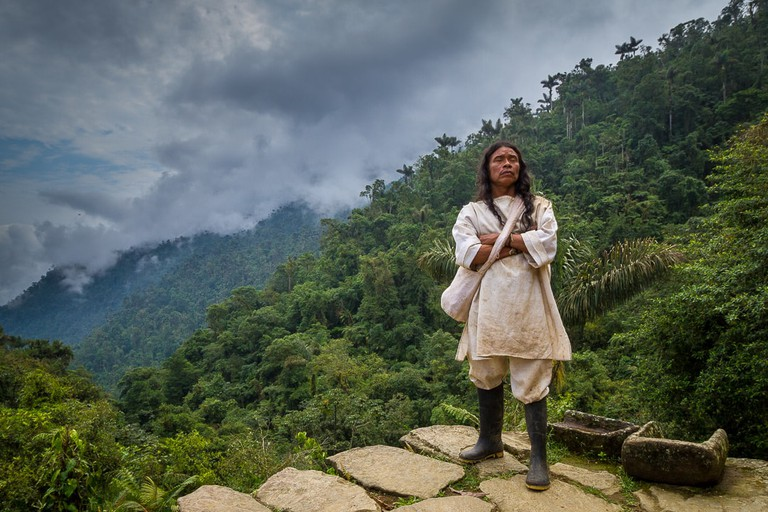 A Kogi tribe member in Colombia's Lost City