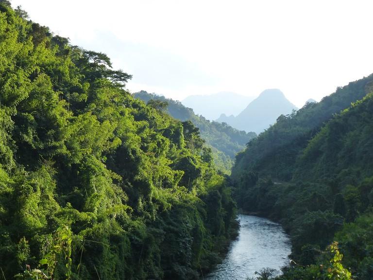 Laos River Landscape