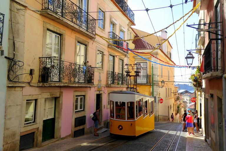 Lisbon's famous yellow trams