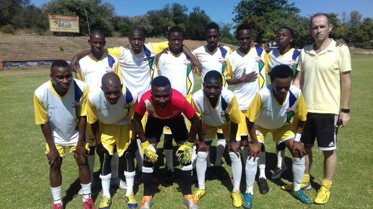 Walley with his Matabeleland team