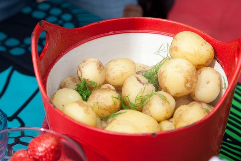 Summer food in Finland.