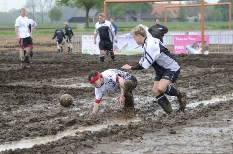 A game of swamp football