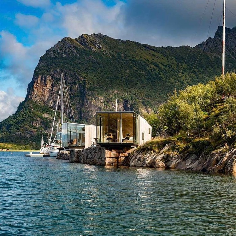 Nature and architecture meet in Manshausen island's seacabins