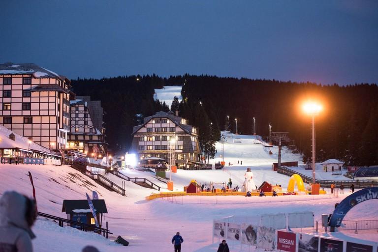 Night skiing at Kopaonik