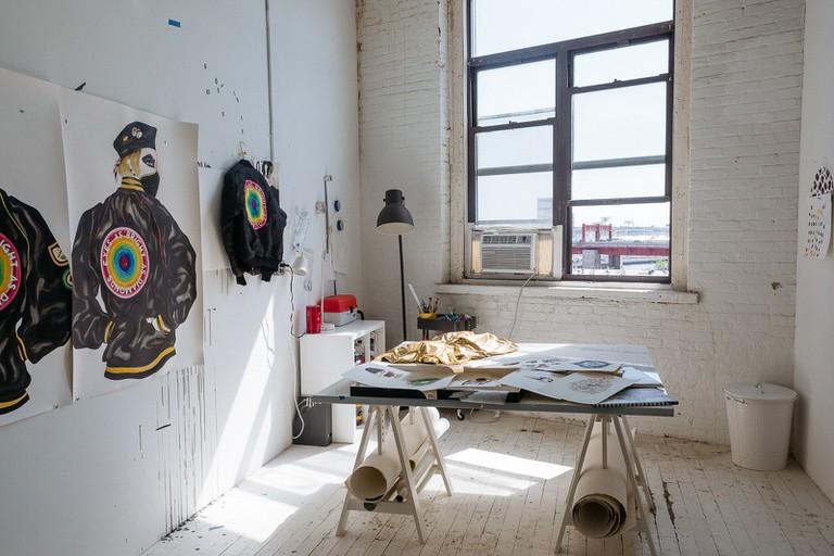 Jen Ray's studio