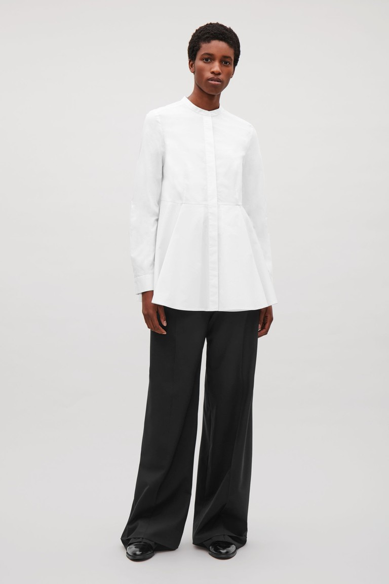 peplum cotton shirt