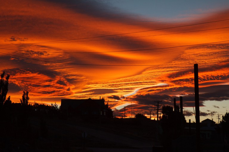 The amazing sunsets in Patagonia