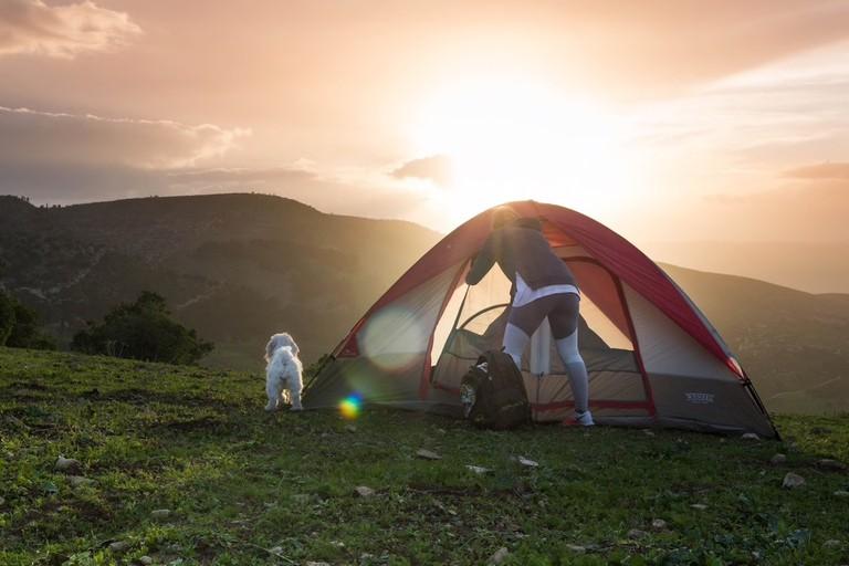 Camping in Umm Qais at Philodemus Campsite