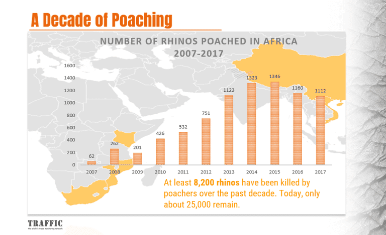 Stats about poaching in Africa