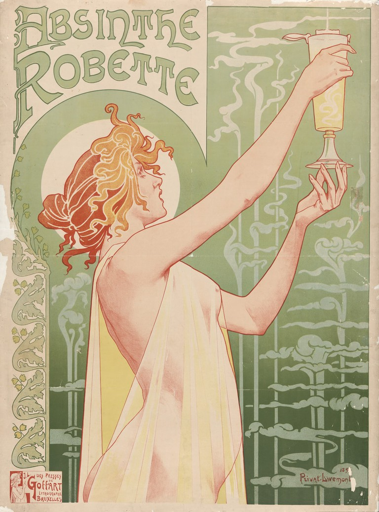 An 1896 poster for absinthe by Henri Privat-Livemont