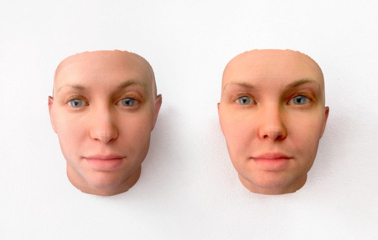 Radical Love, DNA portrait of Chelsea Manning, by Heather Dewey-Hagborg (c) courtesy of Heather Dewey-Hagborg and Fridman Gallery, New York City