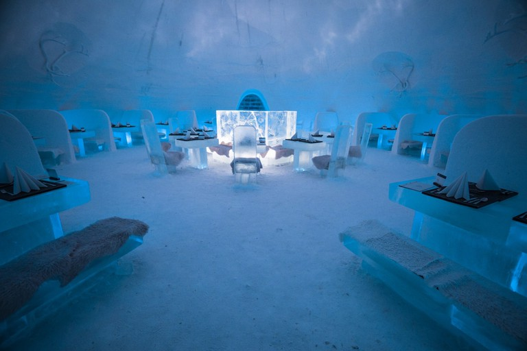 SnowVillage hotel restaurant in Finland