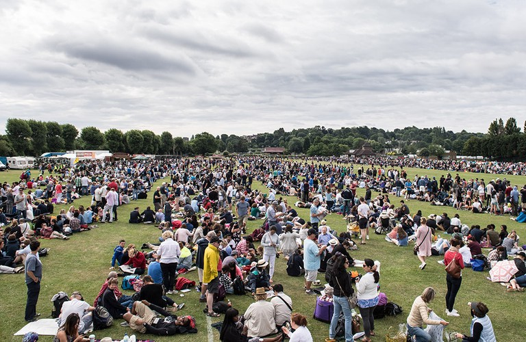 People queuing for tickets, Wimbledon