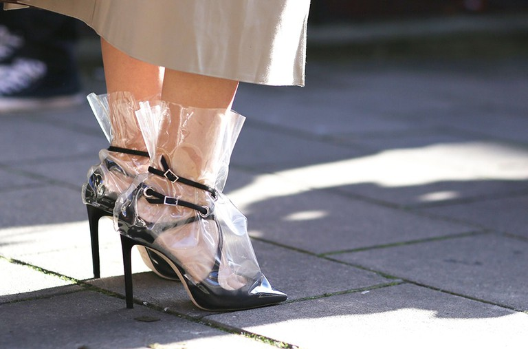 Plastic shoes, AW18, London Fashion Week, UK