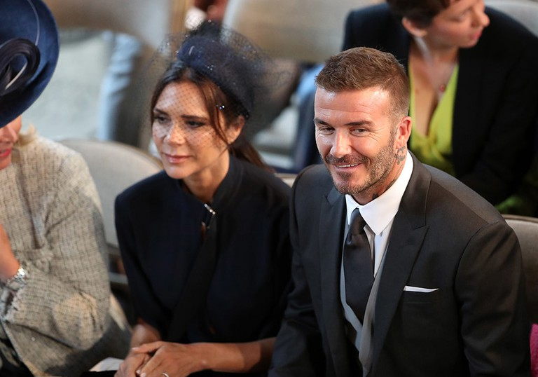 David and Victoria Beckham at Prince Harry and Meghan Markle's wedding