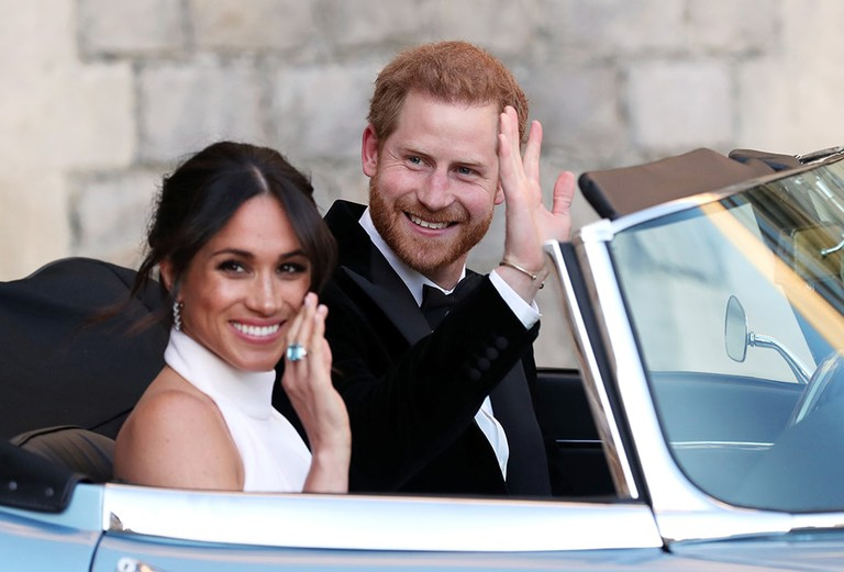 The newly married Duke and Duchess of Sussex, a modern couple