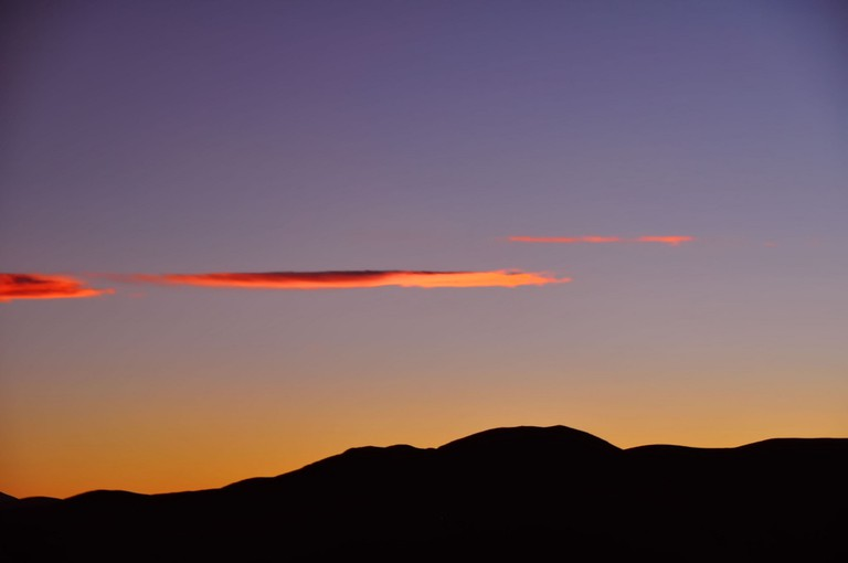 An amazing sunset in Jujuy