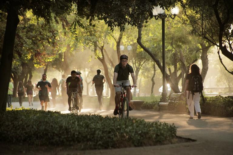 Biking in Parque Forestal