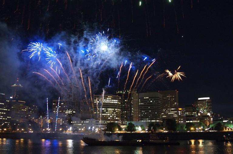 rose-festival-fireworks