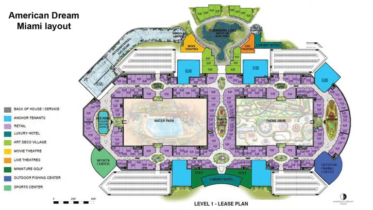 A proposed layout for this mega mall