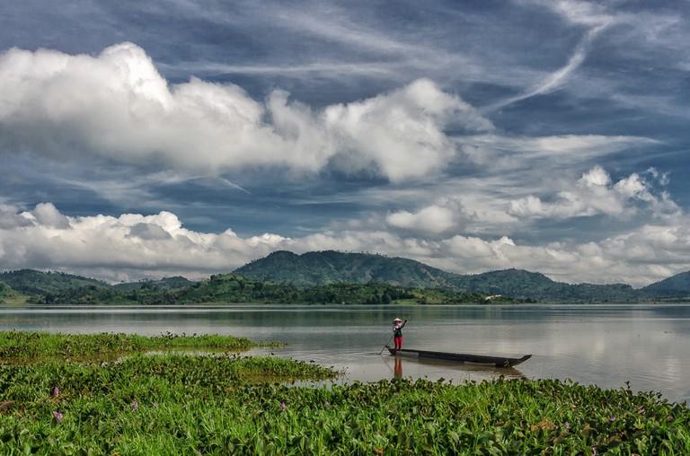 Lak lake in Dak lak, Vietnam