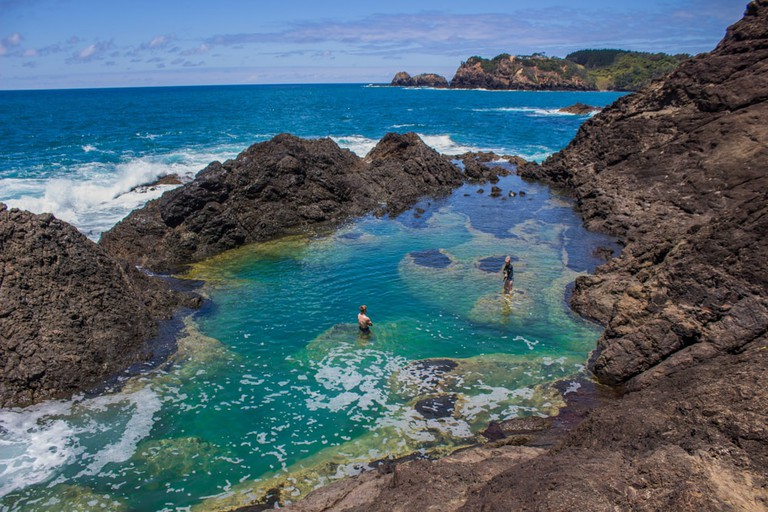 Mermaid pools in Matapouri, New Zealand