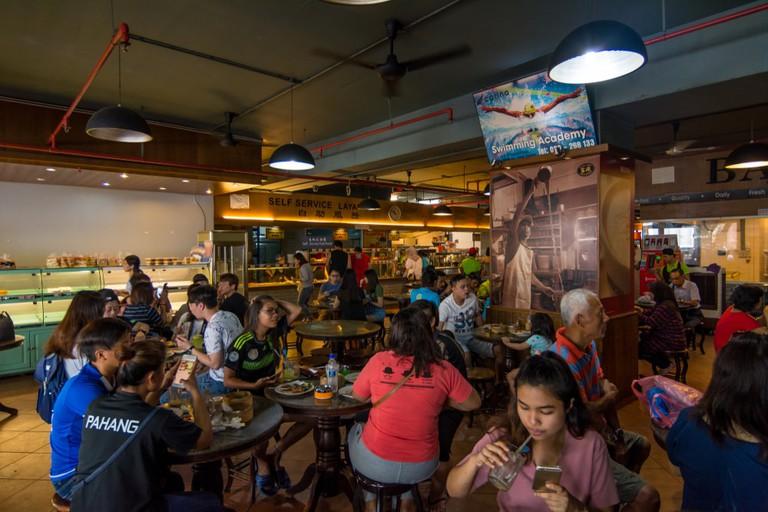 A popular self-service, coffee shop-style eatery in Kota Kinabalu